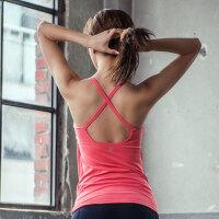 韩国MONODIO瑜伽吊带背心女带胸垫紧身性感健身房跑步运动背心 ST2408