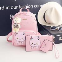 新款韩版儿童背包PU双肩书包女童包包休闲旅游可爱时尚背包潮