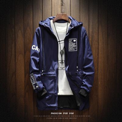 男士风衣中长款2018春秋季韩版潮流修身帅气学生男装休闲夹克外套