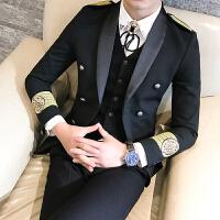 秋冬装男士潮流双排扣小西服韩版英伦修身青少年简章休闲外衣套