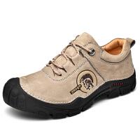 夏季男士休闲鞋 牛皮潮流时尚工装鞋 复古英伦风做旧系带皮鞋