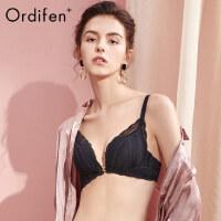 欧迪芬O+前扣无钢圈内衣女士美背文胸蕾丝胸罩性感美背小胸聚拢PB0101