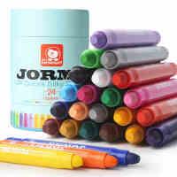 宝宝画笔无毒可水洗旋转儿童蜡笔幼儿画画笔涂鸦涂色笔油画棒24色