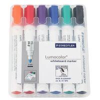 Staedtler施德楼 组合装 水溶性防干白板笔6只装 圆咀 351 WP6