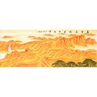 中国美术家协会会员 周裕国《万里长城基业永固》180cm×70cm