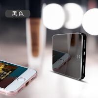 20190606190515540迷你20000M充电宝自带线镜面款小巧便携轻薄大容量移动电源苹果Xs手机oppo华为