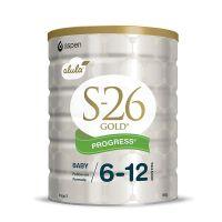 新西兰S26惠氏金装新生婴儿牛奶粉2段(6-12个月宝宝) 900g(新西兰版)两罐装