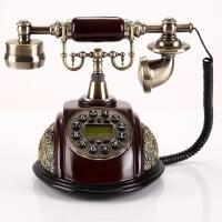 至臻欧式仿古电话机时尚家用复古电话创意可爱固定座机来电显示