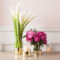 bencross美式现代简约玻璃落地花瓶客厅创意摆件家居装饰品花器