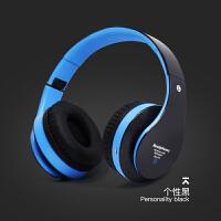 手机无线蓝牙头戴式耳机oppo插卡重低音耳麦苹果华为通用大耳罩 个性黑 收藏先发货 官方标配