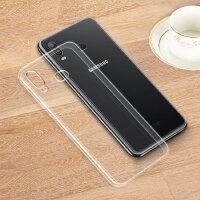 三星GALAXY A6s手机套A6s手机壳SM-G6200透明软硅胶防摔保护套壳个性带支 +钢化膜