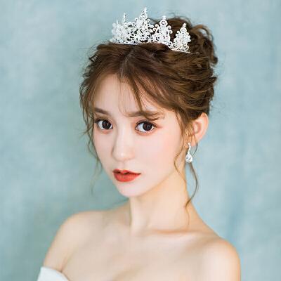 女王气质大皇冠结婚王冠发饰婚纱礼服饰品