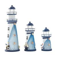 地中海风格模型灯 灯塔 小夜灯 彩色闪光海洋灯 床头灯 桌面创意装饰摆件 大中小号礼品礼物 款式随机