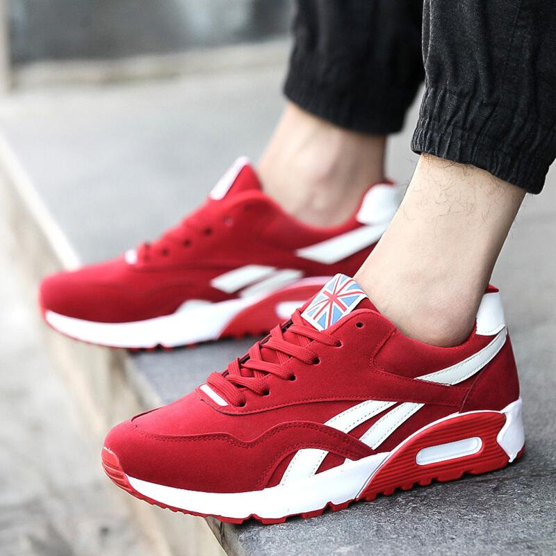 跑步鞋新款休闲鞋子男士增高运动鞋潮鞋子低帮板鞋男透气学生鞋旅游鞋气垫鞋男