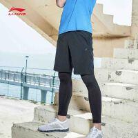 李宁运动短裤男士新款训练系列梭织短装夏季运动裤AKSM117
