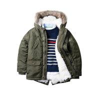 童装冬装童保暖风衣款棉衣儿童宝宝夹棉冲锋衣