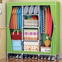 简易布衣柜 无纺布布衣橱加固钢管组合衣柜储物柜收纳柜抖音同款