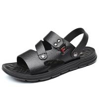 佰仕洛男凉鞋潮沙滩鞋男潮夏季新款软底耐穿户外休闲凉拖鞋外穿夏季百搭鞋 黑色