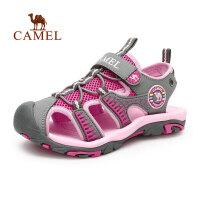 CAMEL骆驼户外青少年儿童款沙滩鞋 防撞防滑护脚沙滩凉鞋
