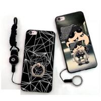 5好评 苹果6plus手机壳 iPhone6Plus套iPhone6splus磨砂全包硅胶软6sp指环壳 手机壳套 保