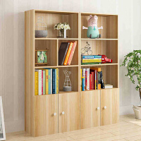 御目 书架 简约现代创意落地书柜自由组合书架学生简易置物架多格儿童玩具柜子创意家具