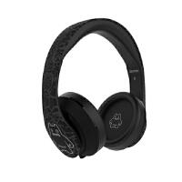 森麦魔鬼猫头戴式耳机有线控游戏耳机皮质耳罩电脑耳麦重低音 黑色