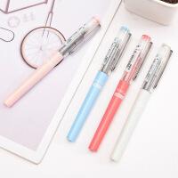 白雪彩色中性笔直液式走珠笔可爱小清新学生考试笔签字笔文具