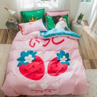 全棉卡通大阪儿童四件套1.22纯棉被罩床单被套儿童床上用品 4件套 1.8x2.0米床 被套 200*23