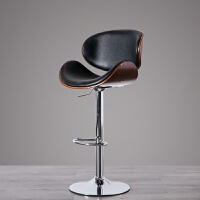 旋转椅可升降吧台靠背椅子北欧轻奢椅旋转前台椅用酒吧椅创意高脚凳