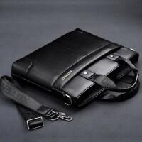 男包商务公文包男士手提包单肩皮包斜挎包男士包包休闲横款