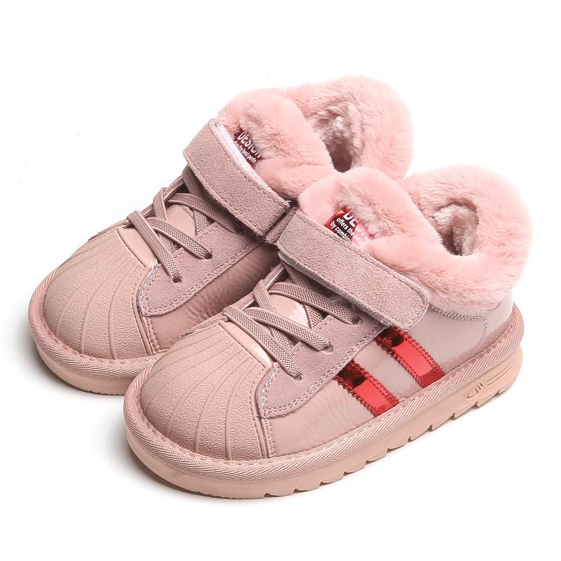 女童棉鞋保暖中大童防滑儿童雪地鞋