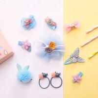 韩版儿童头饰品套装10件套盒宝宝全包发夹女孩边夹发饰头绳可爱