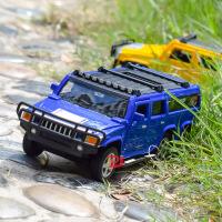 仿真悍马合金车模型 儿童声光回力玩具汽车