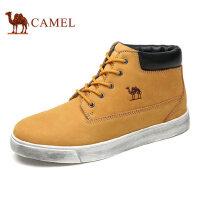 camel骆驼男鞋 秋冬新品 英伦男靴工装鞋短靴男士皮靴高帮男鞋