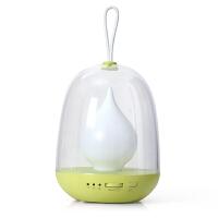 纽曼led小夜灯手提炫彩定时充电调光台灯婴儿宝宝喂奶灯 绿色