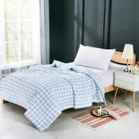 当当优品家纺 水洗棉裸睡夏凉被 200x230双人空调被 俏丽(蓝)