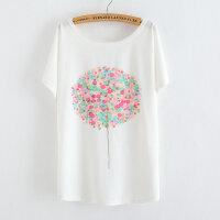 【支持礼品卡支付】大码女装胖MM夏装新款韩版宽松胖妹妹短袖T恤衫蝙蝠袖B