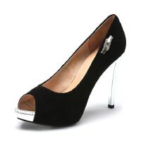星期六ST&SAT春羊皮露趾超高跟鱼嘴单鞋女SS51117609