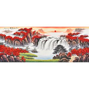 当代著名画家  薛永江山多娇gs01542