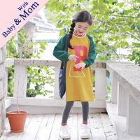 秋季新款亲子装韩版女童卫衣中大童宽松拼色卫衣潮范母女装