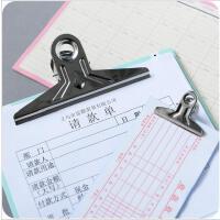 不锈钢小夹子书文件票据燕尾票尾夹文具办公用品铁夹长尾票夹