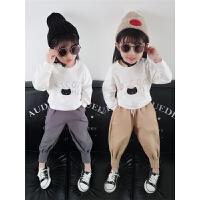 女宝宝秋装套装女童运动卫衣洋气两件套衣服潮