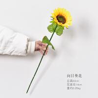 向日葵仿真花束太阳花假花装饰花家居卧室客厅摆设落地花摆件大束 一支向日葵