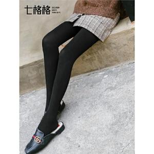七格格打底裤女外穿2018新款秋季小脚裤紧身百搭学生显瘦韩版黑色