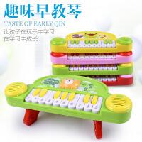 婴幼儿益智电子琴 儿童早教音乐琴 卡通乐器电动小钢琴玩具