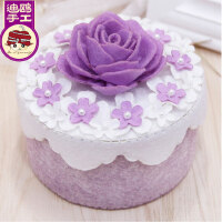 免裁剪紫色爱恋收纳盒置物盒迪鸥不织布手工制作布艺diy材料包