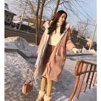 谜秀两面穿羽绒服女冬装2017新款韩版宽松大毛领中长款原宿外套潮
