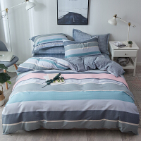 纯棉四件套棉床上用品被子简约被套床单三件套学生宿舍北欧风