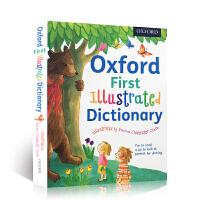 进口英文原版 Oxford First Illustrated Dictionary 牛津幼儿插画全彩版图解词典英语课