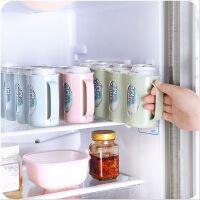 手拉式易拉罐造型收纳冰箱储物盒 厨房塑料整理盒橱柜置物架
